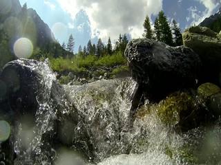 torrente di alta montagna