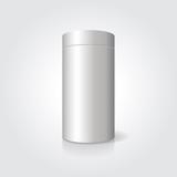 Fototapety Empty white cylindrical box on the isolated background