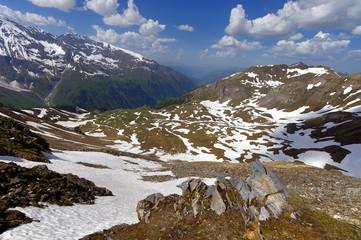 Views of the grossglockner High Alpine Road in Austria Europe