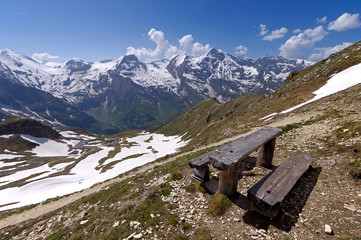Views of the grossglockner High Alpine Road in Austria Europe