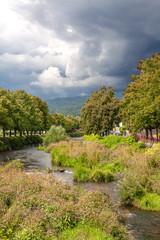 Ciel couvert sur Turchkeim en Alsace, Haut Rhin