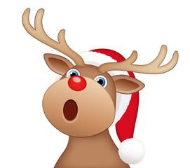 Weihnachts-Rentier, singend