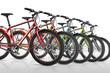 Leinwanddruck Bild - Fahrrad, Fahrräder, Fahradverleih, freigestellt