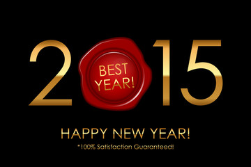 Vector 2015 Best Year! 100% Satisfaction Guaranteed! - backgroun