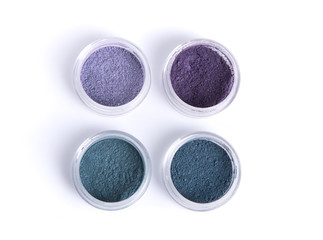 Mineral eye shadows in pastel colors
