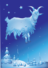 symbol of 2015, the goat, background card