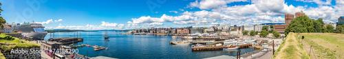 Leinwanddruck Bild Oslo skyline and harbor. Norway