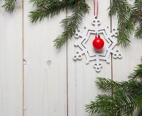 Christmas decorations with christmas tree