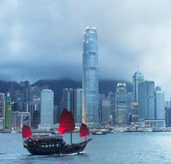 Hong Kong sailboat