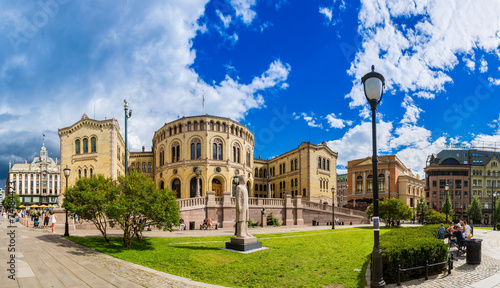 Norwegian Parliament building in Oslo - 74184423
