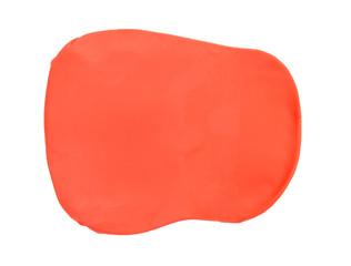Orange plasticine texture