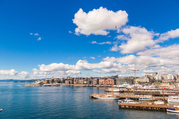 Oslo skyline and harbor. Norway