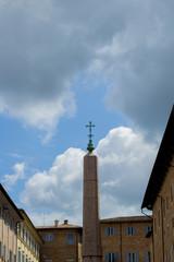 Obelisk whit cross