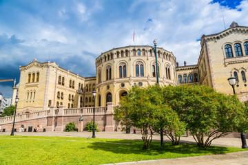 Norwegian Parliament building in Oslo