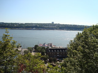 Visto do alto do rio de Quebec - Canadá
