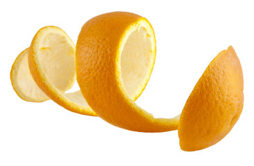 Orange peel against