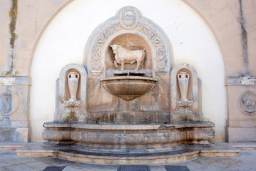 Fountain of bull in Nardo in Salento, Puglia, Italy