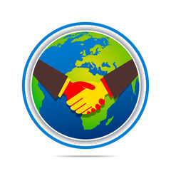 global business relation design concept vector