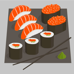Sushi set Illustration
