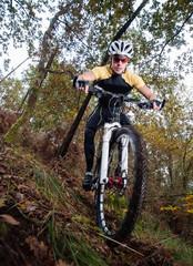 Cyclist downhill