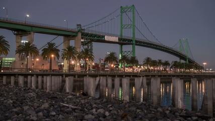 Vincent Thomas Bridge, Port of Los Angeles Time Lapse