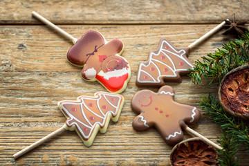 Sucettes au chocolat de Noël