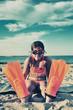 canvas print picture - Swimmer