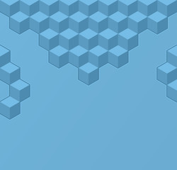Simple geometric background with cubes