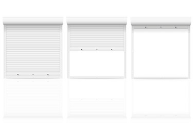 rolling shutters vector illustration