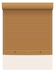 brown rolling shutters vector illustration