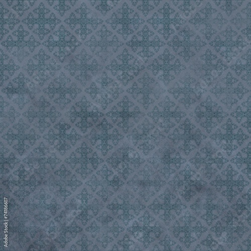 blau brokt tapete muster hintergrund - 74186607