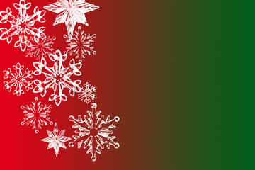 Snowflakes on colorful background