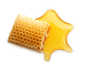 Honey drop and honeycomb
