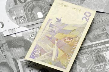 Svensk krona Swedish crown Corona sueca Sweden currency