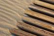canvas print picture - Sand und Holz