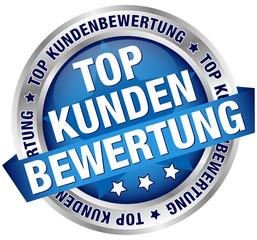 """Button Banner """"Top Kundenbewertung"""" blau"""