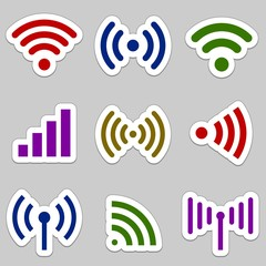 Radio waves icons