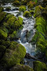 narrow stream of waterfall