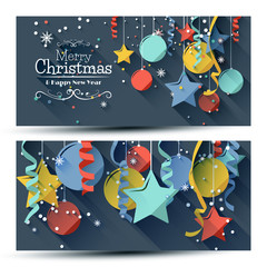 Christmas banners - flat design style