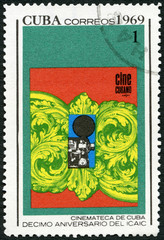 CUBA - 1969: shows Poster, devoted National Film Industry