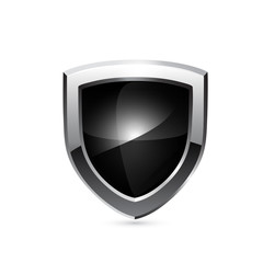 Black shield. Vector