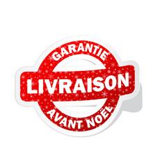 """Tampon """"LIVRAISON GARANTIE AVANT NOEL"""" (idée cadeau)"""