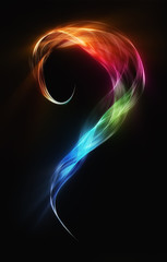 great smoke colored curved blend waves abstract background