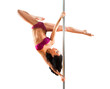 Young sexy pole dance woman - 74190447