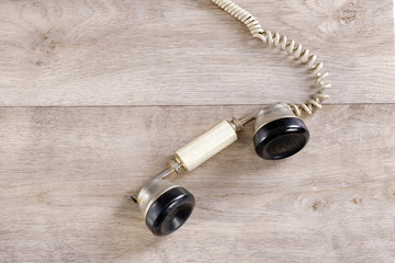 Traditional old telephone receiver