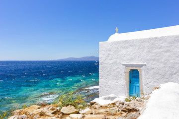 traditional white house in Greece