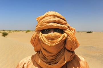 Tuareg en Tombuctú al norte de mali