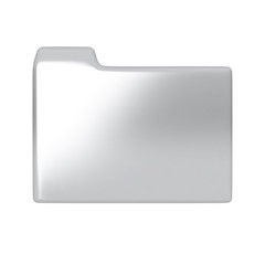 Silver folder icon.