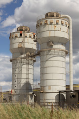 Silos of factory closed