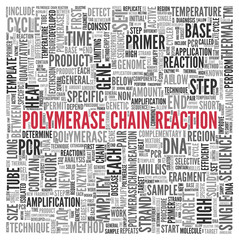 POLYMERASE CHAIN REACTION Concept Tag Cloud Design